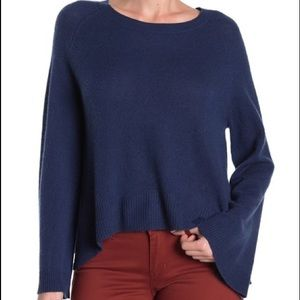 360 Cashmere Gray Dara Bell Sleeve Sweater